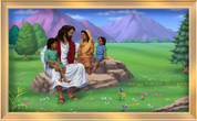 Framed Jesus with the Children