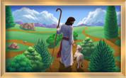 Framed Jesus on a Winding Path
