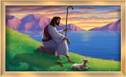 Framed Jesus Sitting by Lake