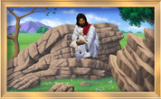 Framed Jesus and the Lost Sheep