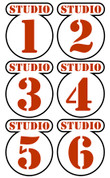 Backlot Studios Door Signs Peel-n-Stick Pack #1