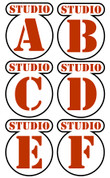 Backlot Studios Door Signs Peel-n-Stick Pack #2