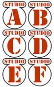 Backlot Studios Door Signs Peel-n-Stick Pack #2