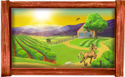 Framed Farm Scene #1 (Choice of Frame)