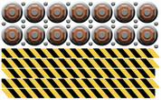 Slime Factory Peel-n-Stick Extra Caution Tape and Bolts Pack