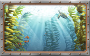 Overstock Framed Mural - Realistic Undersea