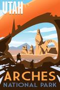 Arches National Park, Utah Travel Poster