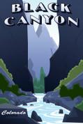 Black Canyon, Colorado Travel Poster