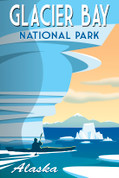 Glacier Bay National Park, Alaska Travel Poster