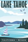 Lake Tahoe, California-Nevada Travel Poster