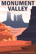 Monument Valley National Park, Arizona Travel Poster
