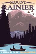 Mount Rainier National Park, Washington Travel Poster