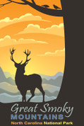 Great Smoky Mountains National Park, North Carolina Travel Poster