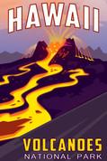 Volcanoes National Park, Hawaii Travel Poster