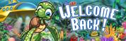 Welcome Back Vinyl Banner - Undersea, Sea Turtle