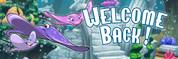 Welcome Back Vinyl Banner - Undersea, Stingray Family