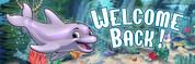 Welcome Back Vinyl Banner - Undersea, Dolphin