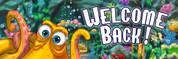 Welcome Back Vinyl Banner - Undersea, Octopus