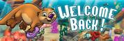 Welcome Back Vinyl Banner - Undersea, Otter