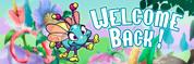 Welcome Back Vinyl Banner - Baby Bugs