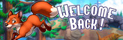 Welcome Back Vinyl Banner - Camping, Fox