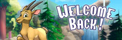 Welcome Back Vinyl Banner - Camping, Mountain Goat