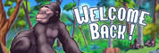 Welcome Back Vinyl Banner - Jungle, Gorilla