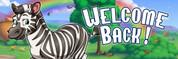 Welcome Back Vinyl Banner - Noah's Ark, Zebra