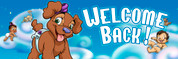 Welcome Back Vinyl Banner - Nursery, Puppy