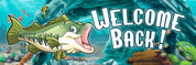 Welcome Back Vinyl Banner - Pond, Fish