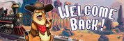Welcome Back Vinyl Banner - Western, Prairie Dog