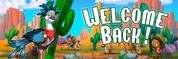 Welcome Back Vinyl Banner - Western, Roadrunner