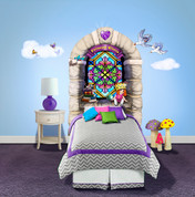 Castle Peel-n-Stick Headboard