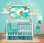 Heavenly Skies Peel-n-Stick Headboard #1