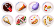 Picnic Plate Floor Place Mats Pack