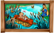 Framed Biblical Scene: Baby Moses (Choice of Frame)