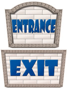 Big City Themed Enter and Exit Signs #1