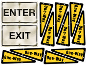 Big City Themed Enter and Exit Signs #2