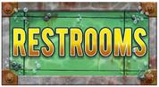 Undersea Themed Restroom Door Signs Peel-n-Stick Pack #5
