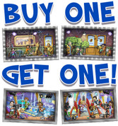 BOGO Backlot Small Framed Murals