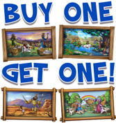 BOGO Biblical Small Framed Murals