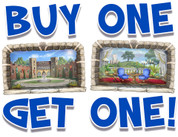 BOGO Castle Small Framed Murals