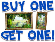 BOGO Jungle Small Framed Murals