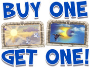 BOGO Heavenly Skies Small Framed Murals