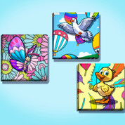 Whimsical Stretched Canvas Set