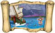 Jesus Walks on Water - Bible Scroll