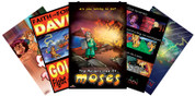 Set includes 5 Bible Stories!  David & Goliath Adam & Eve Daniel & The Lion's Den Moses/The Ten Commandments Noah's Ark