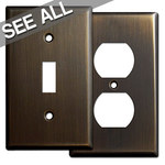 Oil Rubbed Bronze Wall Plates - Popular Sizes