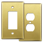 Satin Brass Oversized Switch Plate Covers