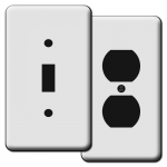 Tall Smooth Corner Switch Plates